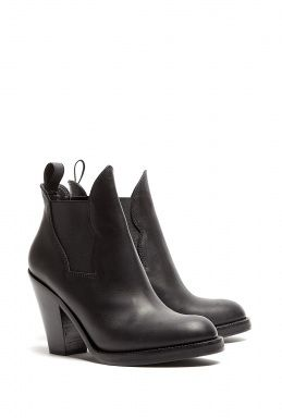 Black Matte Finish Star Ankle Boots by Acne