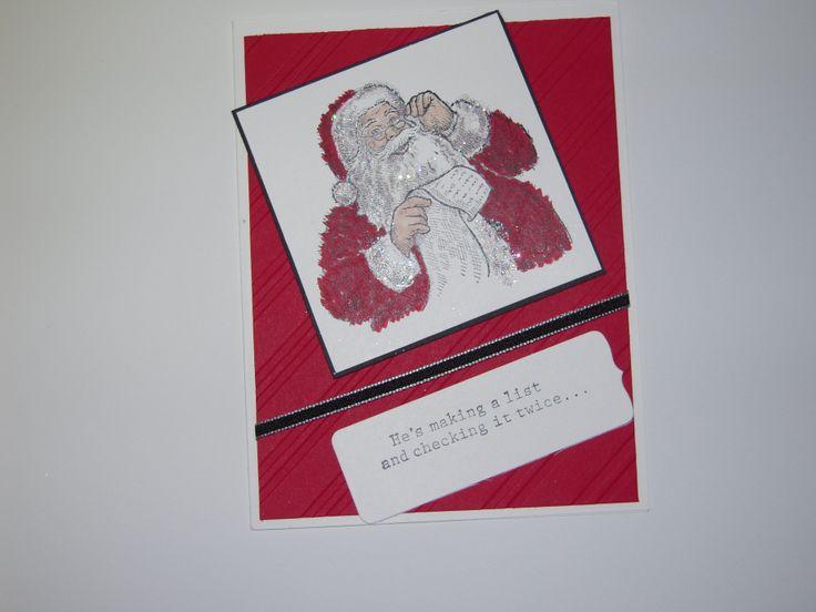 Santa checking his List | My Creations | Pinterest