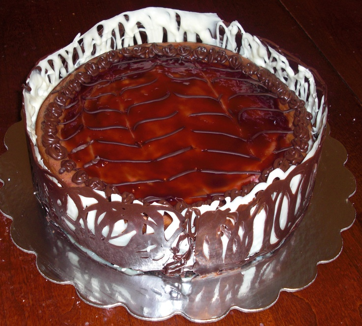 Ghirardelli chocolate raspberry cheesecake wrapped in chocolate!