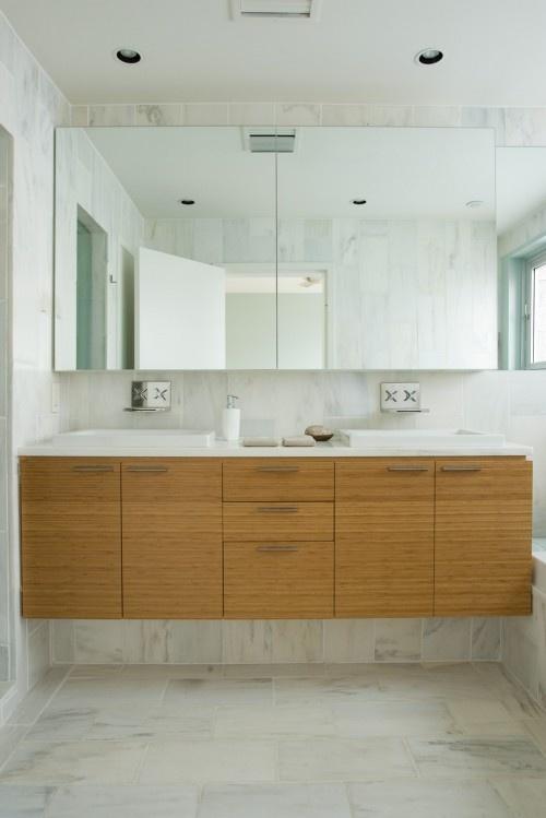 floating bamboo vanity bathroom pinterest