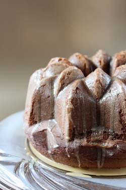 BUNDT: (Cheater) Baileys Irish Cream Bundt (Cake mix and pudding mix)  (Try with Chambord or Kahlua)