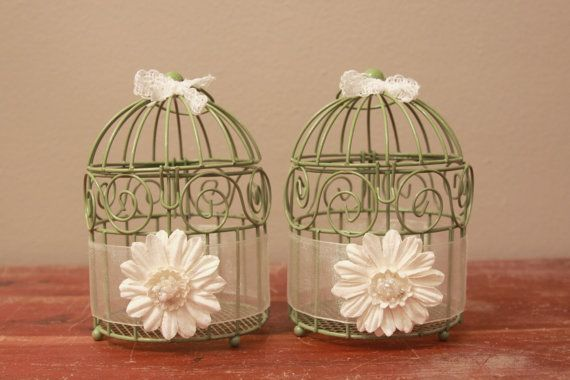 Mini birdcage centerpieces - photo#5