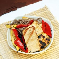 Grilled Tofu and Vegetables with Soba Noodles - an easy (and totally ...