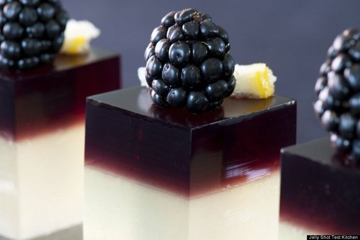 bramble jelly shots these are so elegant i can only imagine what the ...