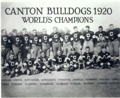 football history canton becomes professional team