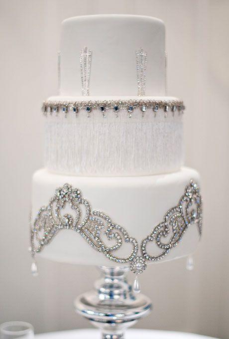 Vintage Rhinestones Wedding Cake