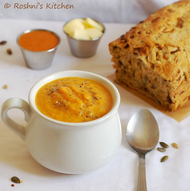 Vegan Butternut Squash Soup - made with roasted butternut squash, very ...