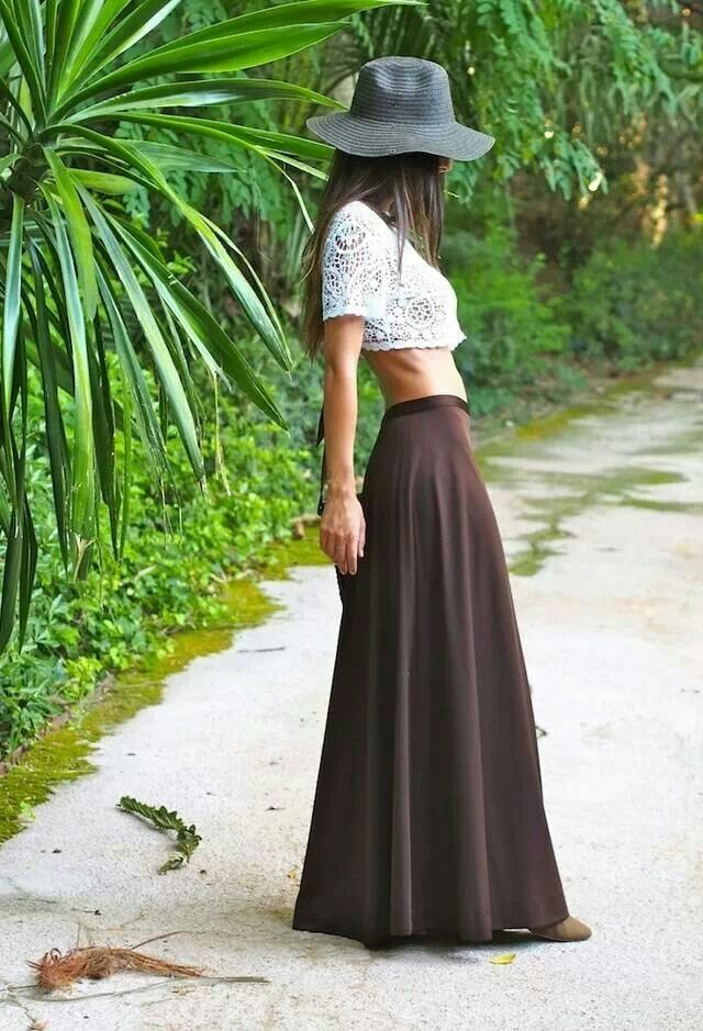 trends cropped top and maxi skirt my style
