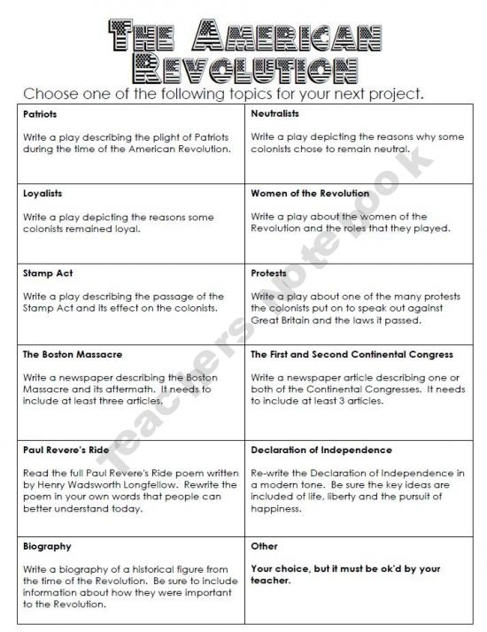American Revolution Worksheets : American revolution task cards