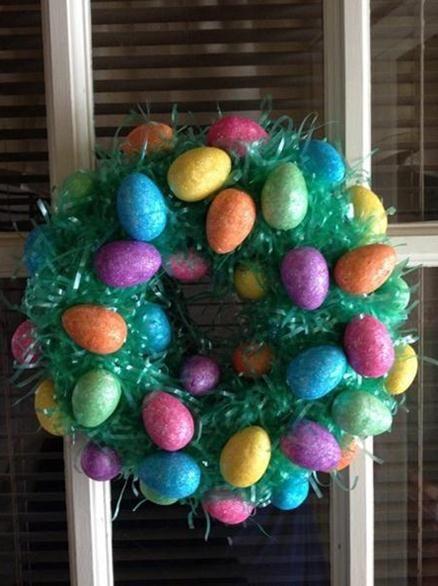 Easter Egg Wreath | Easter | Pinterest