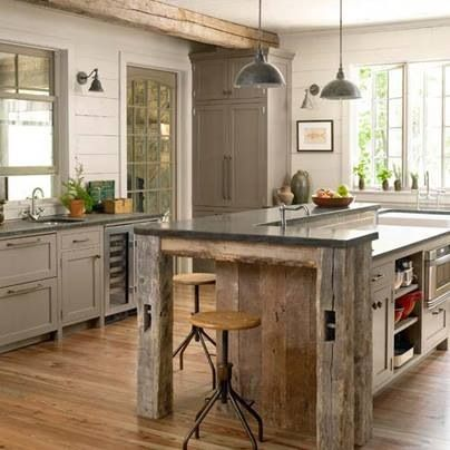 Reclaimed Wood Kitchen For The Home Kitchens Pinterest