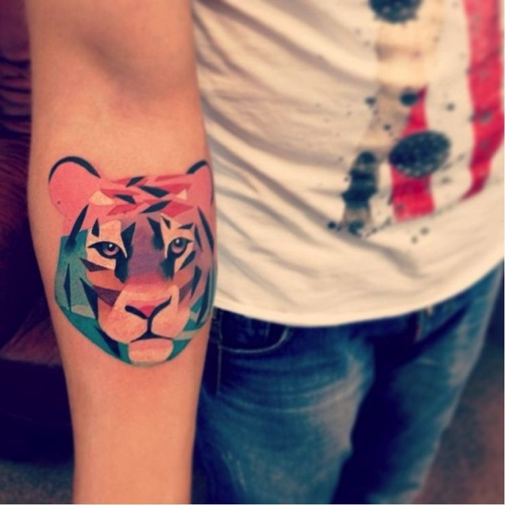 abstract tiger tattoo