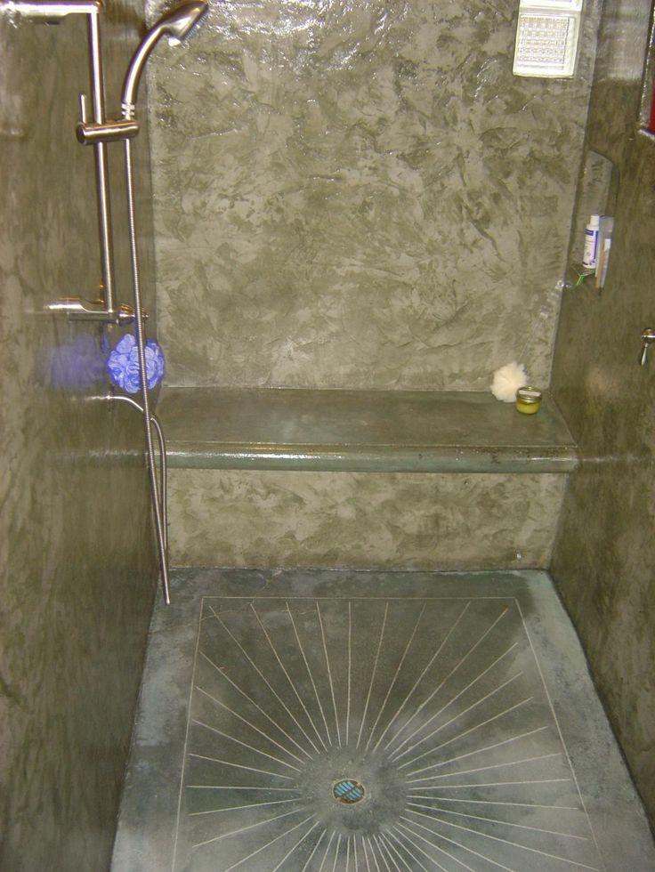 Pin by jana howard on master bath pinterest for Concrete bathroom floor