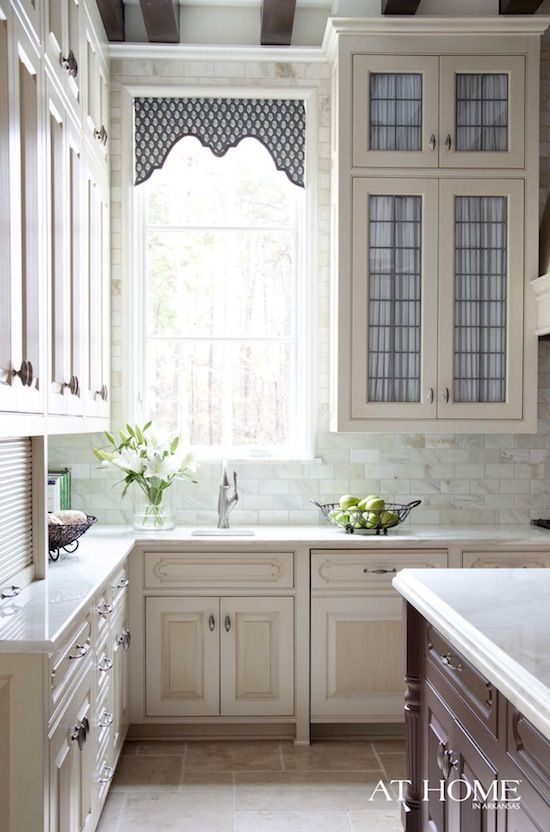 Love this simple shaped window valance
