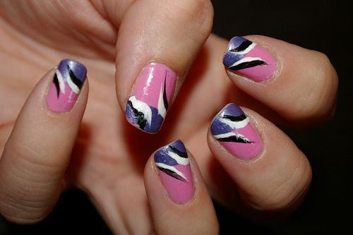 Pirate Girl easy nail design