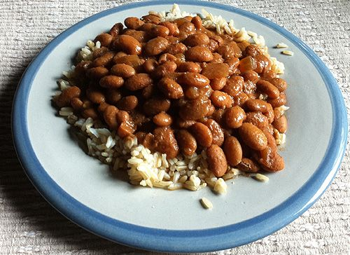 Slow cooker baked beans. Time to stop buying the ones in the can! :)