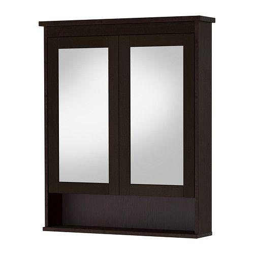 hemnes mirror cabinet with 2 doors white