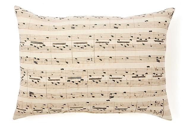 Sheet music pillow!