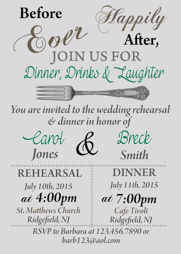 details about rehearsal dinner invitation bridal shower
