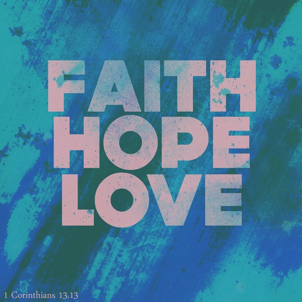 Faith,Hope,Love (Pink) Art Print by Rachel Burbee Quotes About Hope And Love
