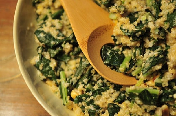 One Pot Kale and Quinoa Pilaf ~ Meatless Main Dishes