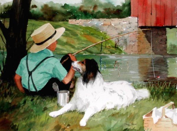Buddies Painting  - Buddies Fine Art Print