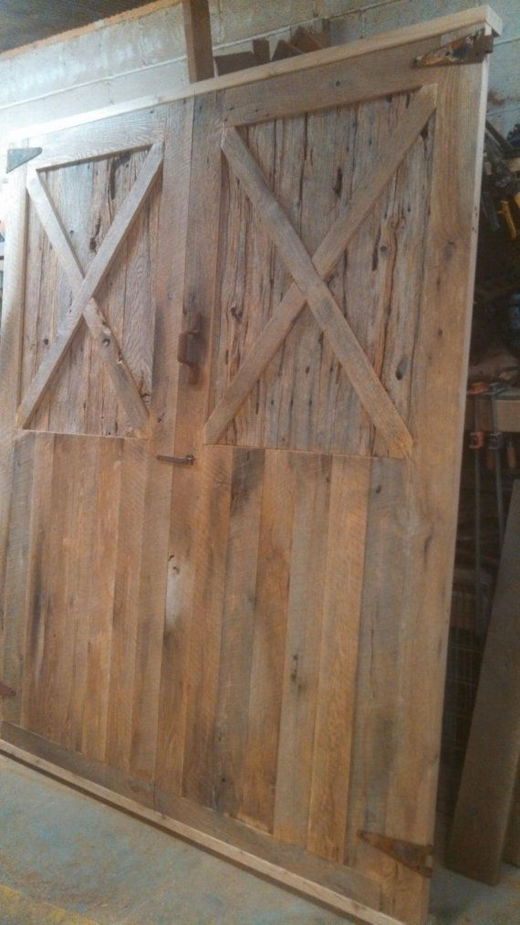 Large double barn door for Oversized barn doors