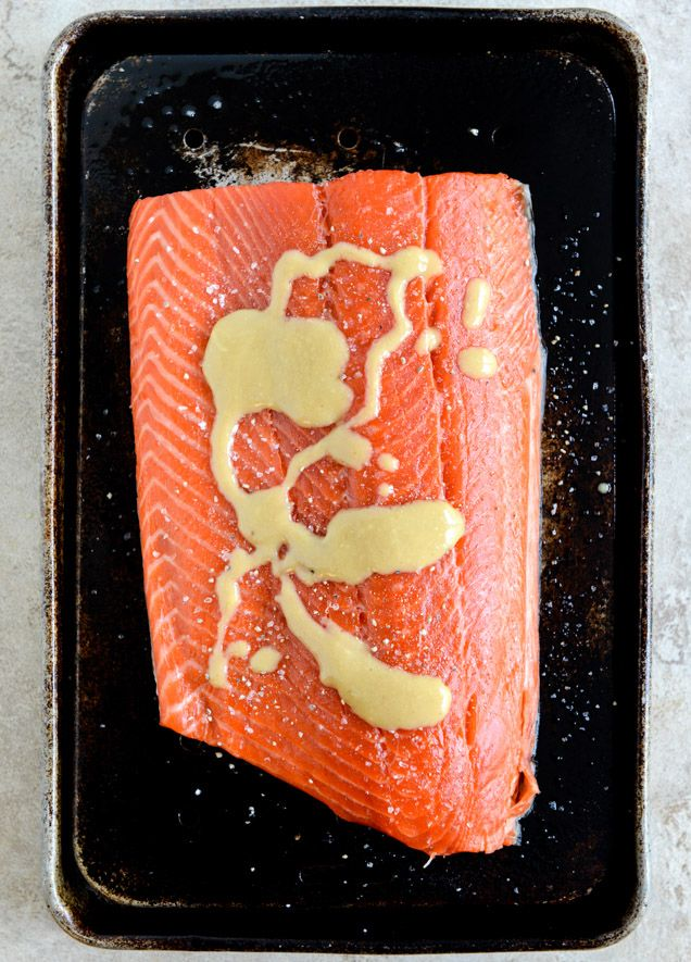 Easy Grilled Maple Dijon Salmon with Bacon | How Sweet It Is