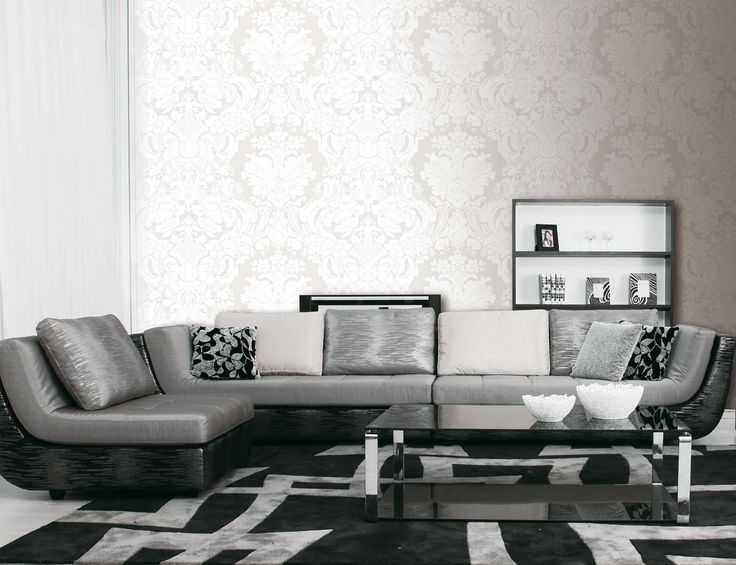 Clandestino behang noordwand wall decoration wallpaper black white living room zwart - Woonkamer in zwart ...