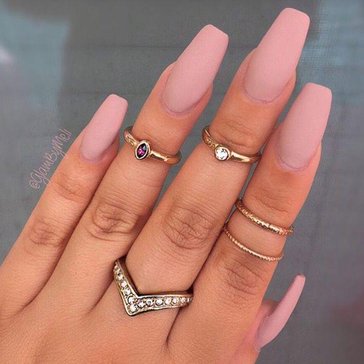 Luxury Matte Color Acrylic Nails Ornament