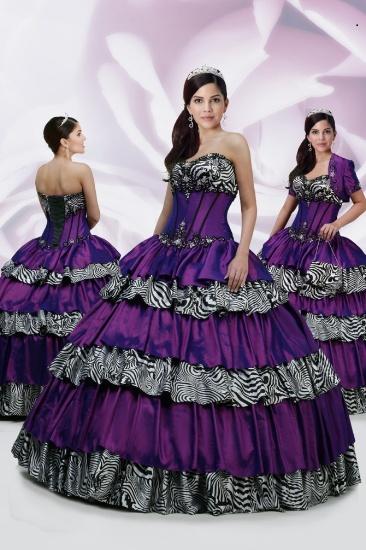 Zebra Grad Dresses 76