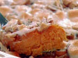 sweet potato souffle with cashews and coconut