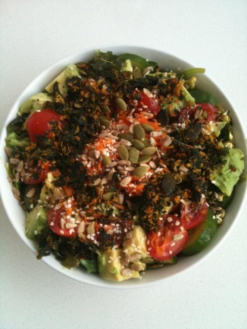 krunchy_kale_salad | raw salads | Pinterest