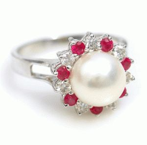 Pearl and ruby engagement ring my fairytale wedding pinterest