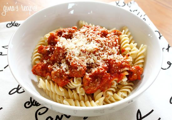 Turkey Sausage and Tomato Sauce over Pasta #kidfriendly #pasta # ...