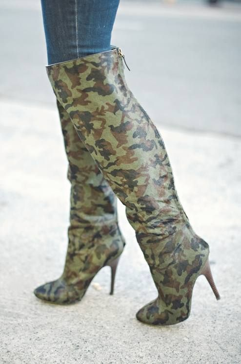cool camo knee high boots for me