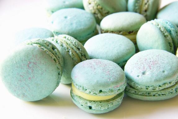 Macarons with Lemon Verbena and White Chocolate Ganache