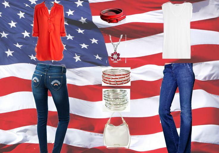 fourth of july denim shirt