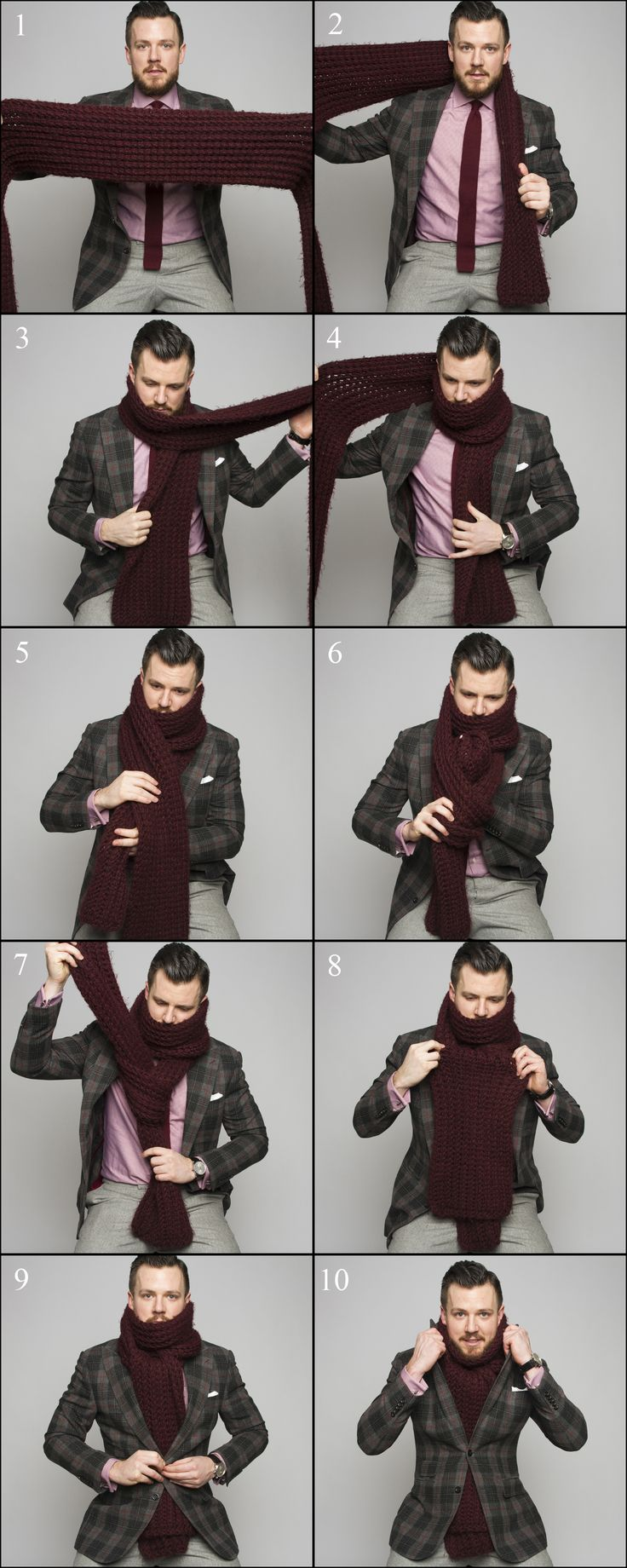 How to tie a scarf men fashion 86
