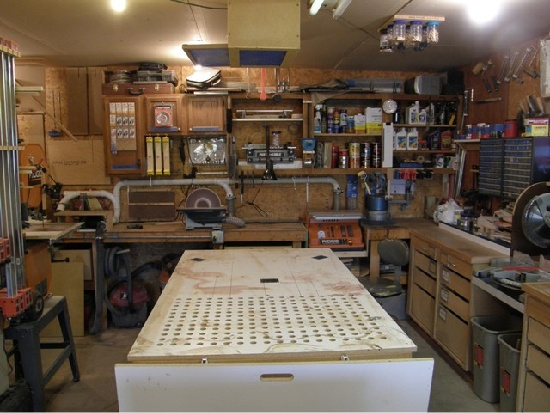how to build a basement workshop