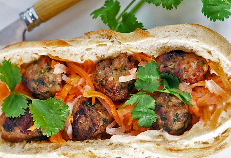 Banh Mi: Vietnamese Pork Meatball Sandwiches for Festive Friday! http ...