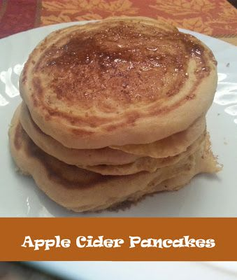 Apple Cider Pancakes with Cinnamon Sugar Topping