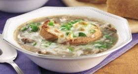 Philly Cheese Steak Onion Soup | Pattys Favorite Soups | Pinterest