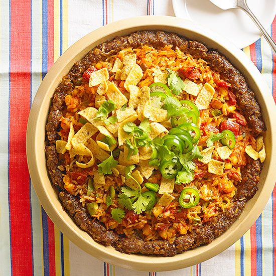 Interesting recipe....Deep-Dish Mexican Meat Loaf Pie