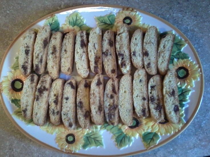 Orange Almond Chocolate Chip Biscotti | Nosh around the World | Pinte ...