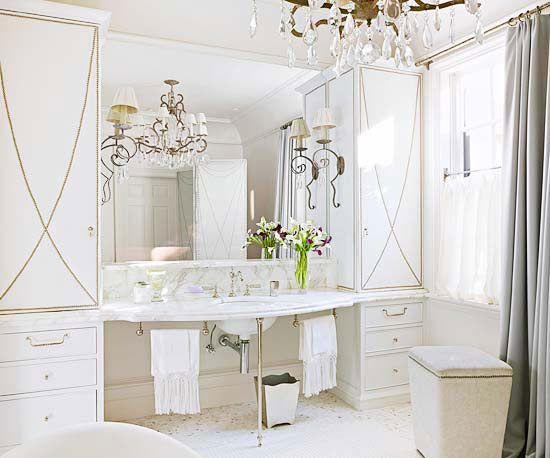 Hollywood glamour baths pinterest for Hollywood bathroom design