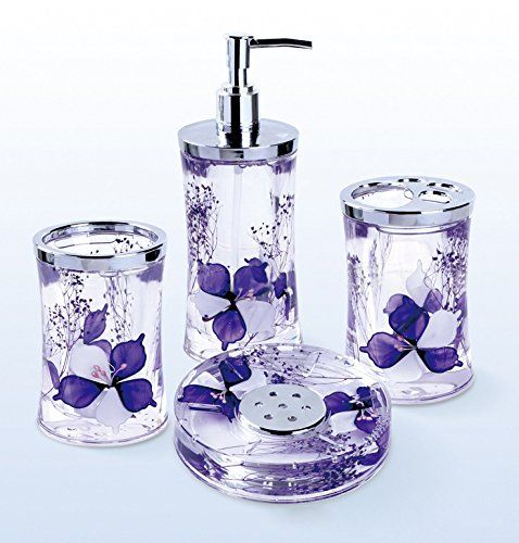 Purple Bathroom Coordinates Amazoncom