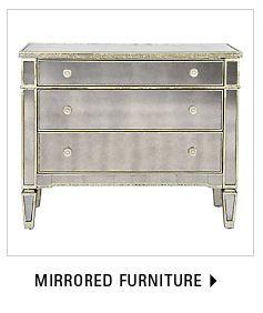 mirrored furniture Z Gallerie