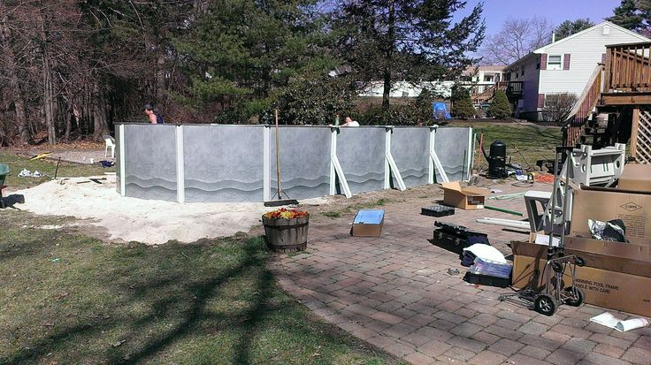 A 15ft x 30ft namco pool going up in tewksbury ma http for Namco pools