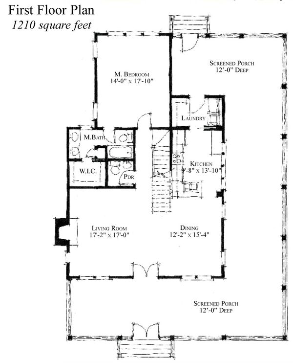 Country Historic House Plan 73838